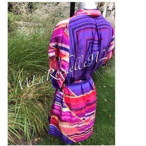 GOTTEX 100% Silk bikini swimsuit cover up dress